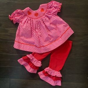 Smocked Valentine's Day Outfit size 2